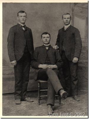 Rollin,Frank,Watson(Fred)Webster circa 1884
