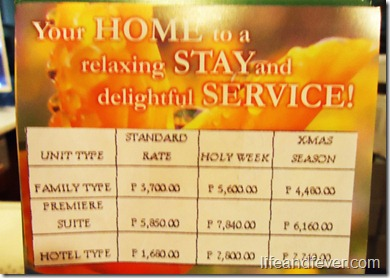 Baguio Holiday Villa Court rates