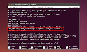 grub intel_pstate=enable
