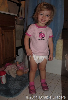 Elaine in Panties and pink shoes