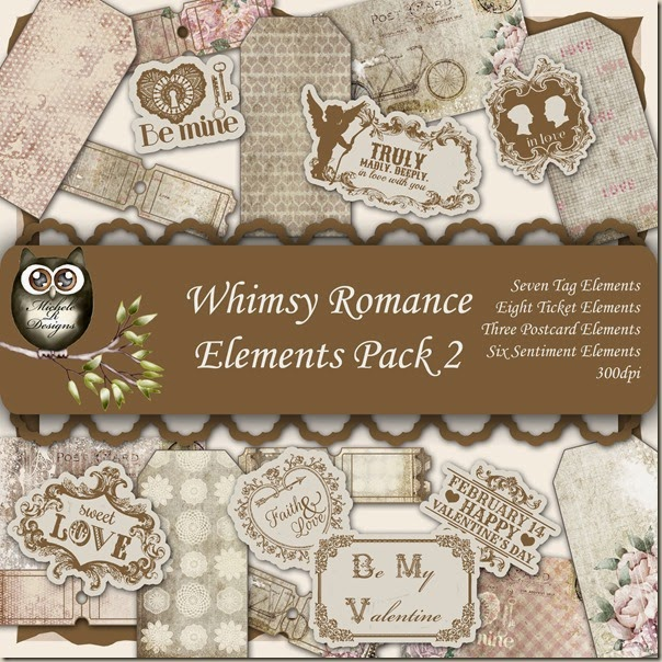 Whimsy Romance Elements Front Sheet Pack 2