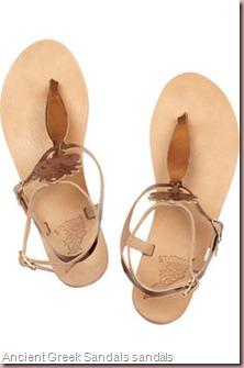 Ancient Greek Sandals aphrodite metallic leather sandals