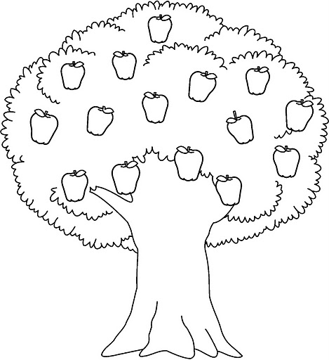 TREES COLORING PAGES