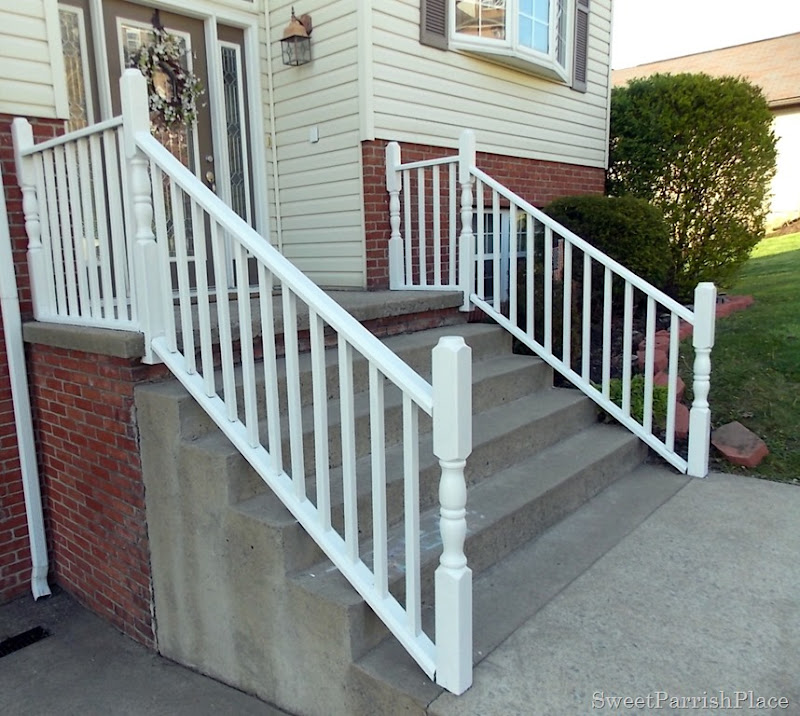 painting exterior hand rails