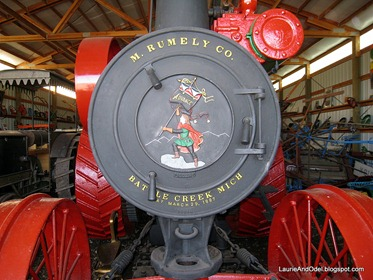 Detail of the front of the Straw Burner