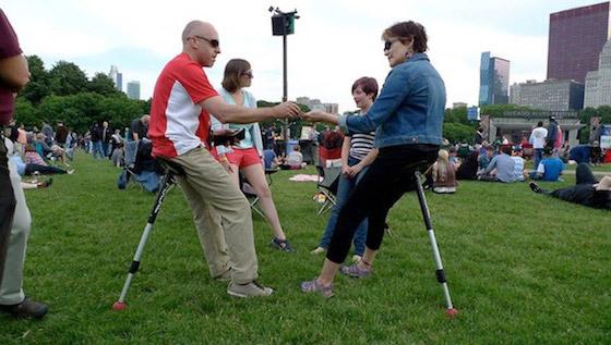 Portable Human Kickstand