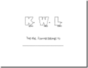 KWL journal cover