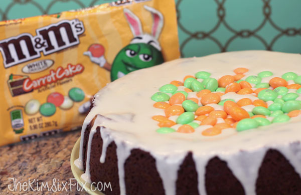 Carrot cake M and M cheese cake