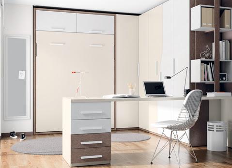 Camas plegables para dormitorios juveniles - Dormitorios juveniles espacios pequenos ...