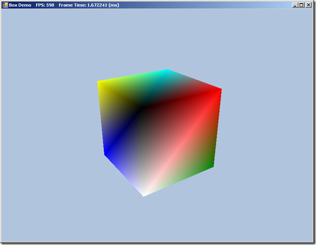A Colored Cube in DirectX 11 and SlimDX
