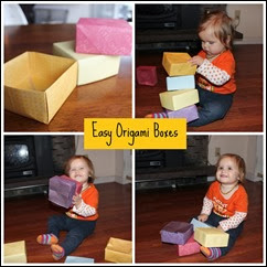 Many Waters Easy Origami Boxes with Munchkin