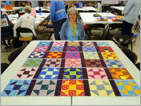 Scrappy Quilt Of Many Colors