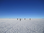 Playing games on the salt flats. The immense size of the place is mind boggling.
