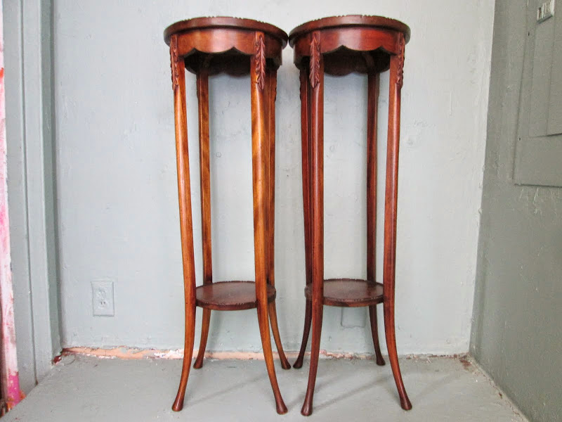Pedestal Table Pair