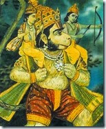 [Hanuman carrying Rama and Lakshmana]