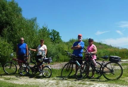 Bike riding with Janie and John