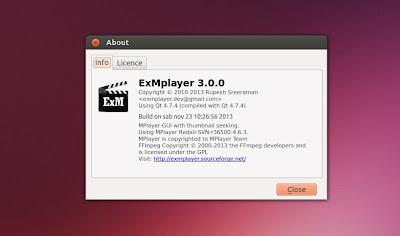 ExMplayer 3.0.0 in Ubuntu - info