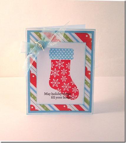 Xmas stocking card