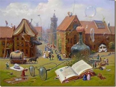 livros e casa
