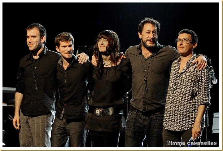 D'esquerra a dreta: Martí Serra, Marco Mezquida, Giulia Valle, Gorka Benítez i David Xirgu (Barcelona, 2012)