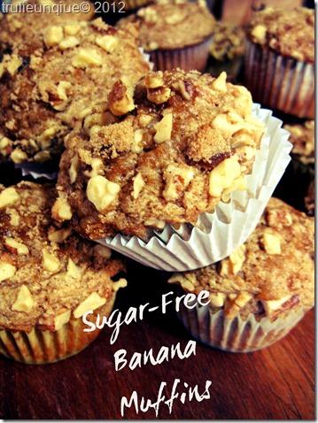 banana muffina, banana bread, sugar free banana bread, sugar free banana muffins,