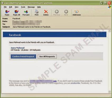 Falsa solicitud de amistad de Facebook dirige a descargar malware