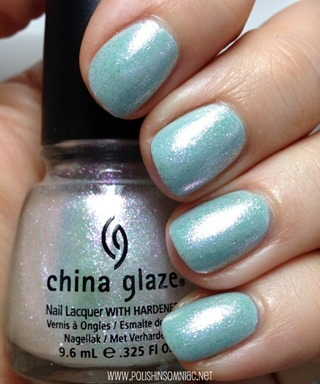 China Glaze Travel in Color over Essie Who Is The Boss nail polish