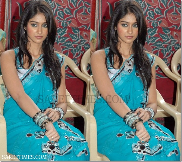 Ileana_Blue_Saree