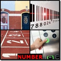 NUMBER- 4 Pics 1 Word Answers 3 Letters