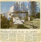 Mermaid finds home in garden.