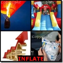 INFLATE- 4 Pics 1 Word Answers 3 Letters