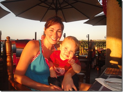 3.  Knox and Mommy at breakfast