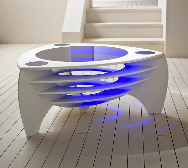 Cool Corian Coffee Table Futuristic Design 2 Cool Coffee Tables