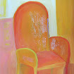 &quot;Yellow Chair&quot; Gouache