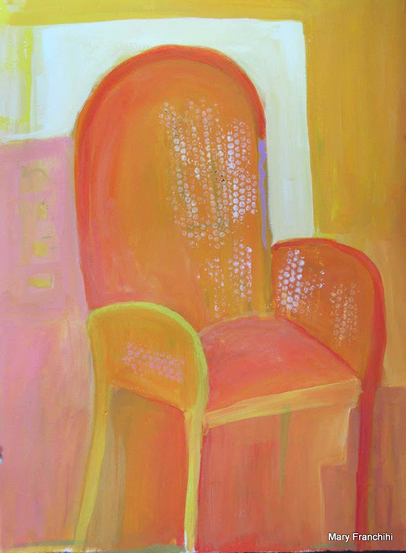 """Yellow Chair"" Gouache"
