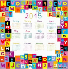 небольшой календарь 2015 год