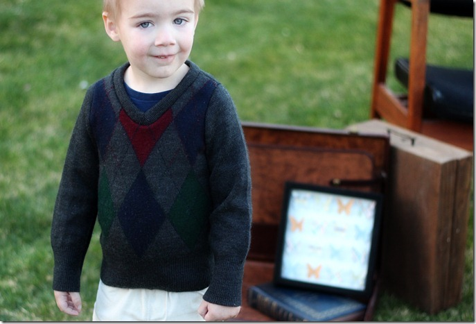 Boy Sweater Refashion