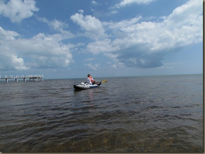 Al kayaking off Big Pine Key