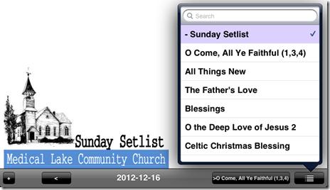 setlist 2012-12-16 unrealBook