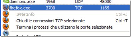 CurrPorts Terminare connessione TCP/UDP