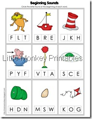 beginning sounds cards