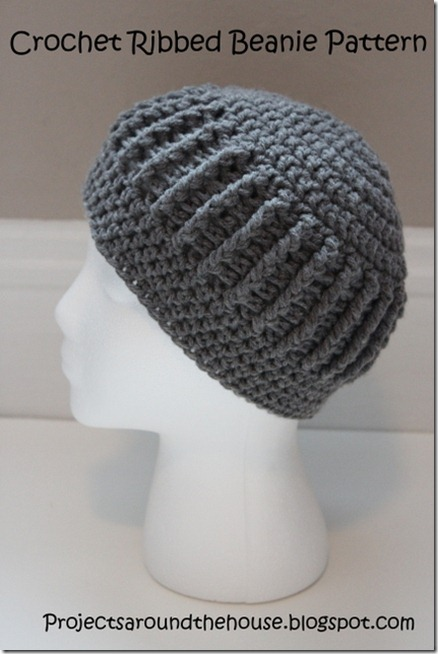 crochet ribbed beanie pattern