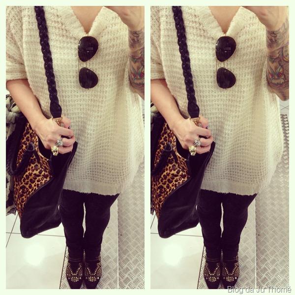 look com legging, blusão de lã e botinha com tachas (1)