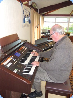 Former President, George Watt, played our Technics GA3 organ with some rousing latin numbers.