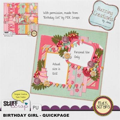 MDK Scraps - Birthday Girl - QP Preview