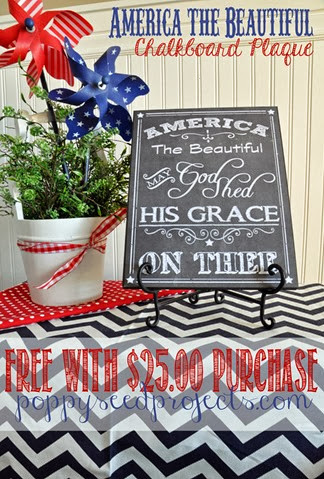 Super Saturday Craft Ideas - Chalkboard Plaques, America the Beautiful