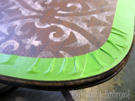 Taping Rounded Edges {Sawdust and Embryos}