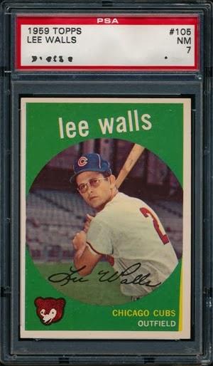 1959 Topps 105 Lee Walls yellow wedge