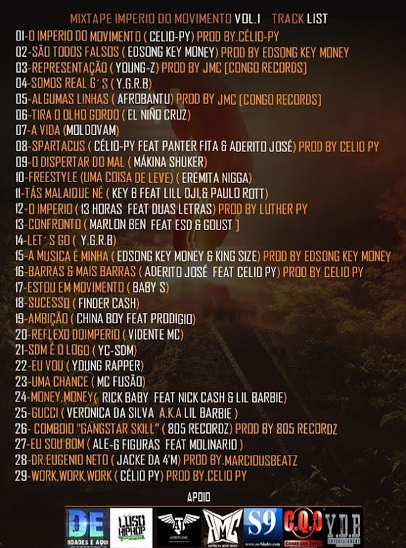 Track List -Mixtape- O Império Do Movimento Vol.1 ( Design By Dm-Edition)