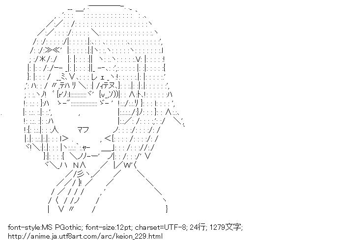 [AA]平沢唯 (けいおん!)